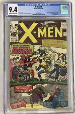 X-MEN #9 CGC 9.4 RARE OW-W PAGES SUPER HIGH END HUGE KEY 1ST X-MEN VS AVENGERS