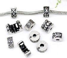 10 Mix Antiksilber European Stopper Clips Beads 11mm FL