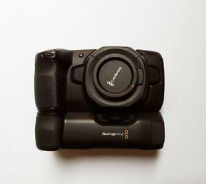 blackmagic pocket cinema camera 4k + battery grip