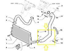 TUBO TURBO ARIA INTERCOOLER ALFAROMEO 159 1900 JTD 16V codice originale 50501562