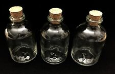 3 JARS, GLASS MEDICAL HERB STASH JARS ODOR LESS AIR TIGHT  THICK GLASS