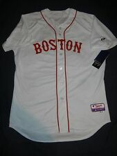 AUTHENTIC Majestic DUSTIN PEDROIA Boston Red Sox Cool Base Jersey 48 XL NWT Home