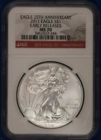 2011 American Silver Eagle. NGC MS70.  ET1630A/RH