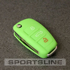 AUDI 3 botón llave remota FOB Shell Protector Cubierta Estuche Bolsa Casco Piel Cap Car 58