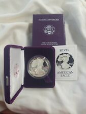 1986 s 1oz fine silver one dollar liberty coin  with certificate