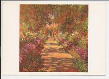 Vintage Postcard Post Card Continental Monet Garden Path Giverny 1900 ac14