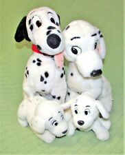 Vintage 101 Dalmatians PERDITA & EURODISNEY Pongo PENNY ROLLY Dog Plush Lot Toys