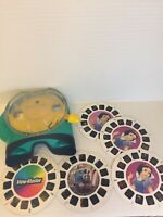 View-Master Green & Yellow FISHER PRICE REEL Viewer 2002 With 5 Reels Lot Disney