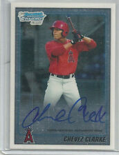 CHEVEZ CLARKE AUTOGRAPH RC 2010 BOWMAN CHROME AUTO