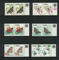 SAM15) Samoa 1986 Butterflies MUH pairs