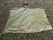 Vintage,Korean War Us Military 'Lightweight,Hoodie Green Poncho' 88x65,