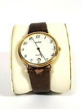 Alfex | Men's Brown Snake Skin Cuff Watch | White Face | Gold Case | Swiss Made