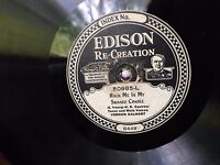 "RARE Edison Diamond Disc #50985 ""Rock Me In My Swanee Cradle"" & ""Maggie Blues"""