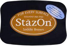 STAZ-ON SOLVENT INKPAD ~SADDLE BROWN CODE SZ-43