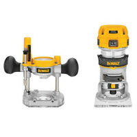 DEWALT 120V Premium Compact Router Fixed/Plunge Combo Kit DWP611PK New