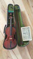 Vtg Antique Violin Made In Nippon Bow Hard Case Tuner Howard Instructor Book