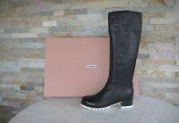 MIU MIU Damen Stiefel Gr 36 boots stivali shoes 5W8902 schwarz+weiss NEU UVP895€