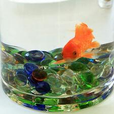 3X Clear Glass Aqua Beads Pebble Stones Aquarium Fish Tank Decoration Pet Supply