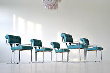 Set Dining Chair Faleschini Guido Pace Tucroma Stahlrohr Armlehnenstühle Leder