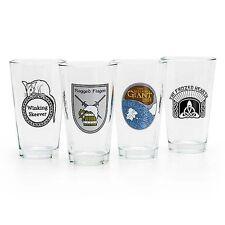 BETHESDA SKYRIM Elder Scrolls Factions 16 oz Pint Clear Glass Set of 4 - *RARE*