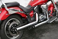 Jardine 2:2 Exhaust Full System Staggered Drag Chrome For Yam V-Star 950 09-11 1