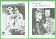 #T15.  TEN PAGES OF MARILYN MONROE RELATED MOVIE PICTURES