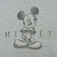 Disney Mickey Mouse Since 1928 XL Gray Sweatshirt Graphic Faded No Tag Vintage