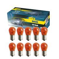 10 x 581 12V PY21W Amber Orange Indicator Car Bulbs BAU15S Off Set Pins