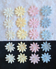20 Assorted Mulberry Paper Flowers pastel Baby babies miniatures dolls Showers