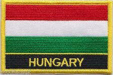 Hungary Flag Embroidered Patch Badge - Sew or Iron on