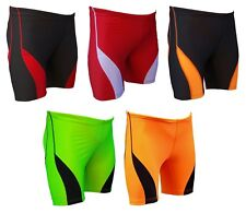 ACCLAIM Beijing Mens Red Grey Running Keep Fit Training Lycra Sports Shorts