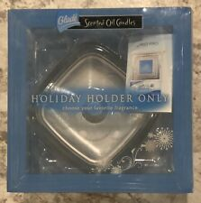 "GLADE Scented Oil Candles, Glass Holder ""Holiday Edition"" Holder Only, NEW"