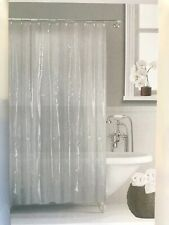 SHOWER CURTAIN LINER SOLID VINYL CLEAR/OPAQUE BATHROOM New