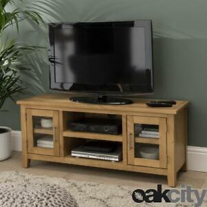 Nebraska Modern Oak Large TV Unit / Solid Wood TV Stand / Oiled TV Cabinet / New