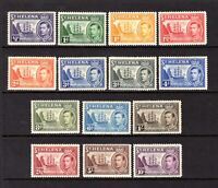 ST HELENA KGV1  1938 sg131-140 LIGHTLY MOUNTED MINT SET 1/2d TO 10/- CAT £140