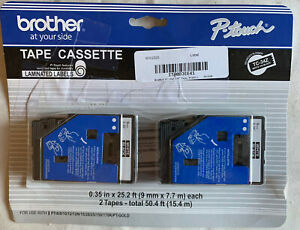 """Brother P-Touch TC Tape Cartridges for P-Touch Labelers, 3/8""""w"""
