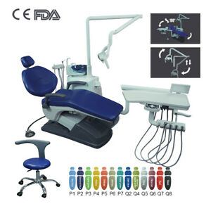Dental Surgery Unit Chair Computer Controlled Hard Leather Water suction