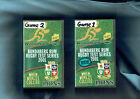 #VV8. TWO RUGBY UNION VHS VIDEO TAPES - AUSTRALIA VS GREAT BRITAIN, GAMES 1 & 2
