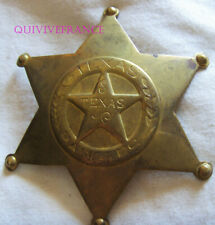 IN13272 - Obsolete Brass Texas Rangers Six Pointed Star Badge