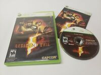 Resident Evil 5 (Microsoft Xbox 360, 2009) Video Game Complete w/ Manual TESTED
