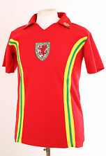 WALES RETRO RED 1970'S STYLE No.7 FOOTBALL SHIRT LARGE L EURO 2016