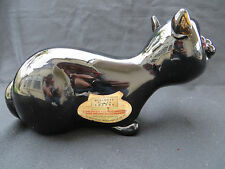 VINTAGE SEGUSO BISCHOFF BLACK CAT BOTTLE - Murano Art Glass