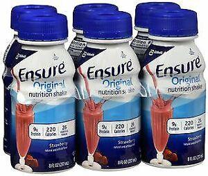 Ensure Original Nutrition Shakes Strawberry, 24-8 oz, Pack of 4