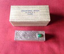 VINTAGE ITALIAN 800 SILVER LIPSTICK CASE WITH MIRROR ORIGINAL BOX ARGENTERIA SPA
