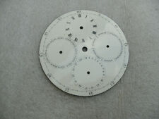 Antique Enamel Clock Dial With Complications