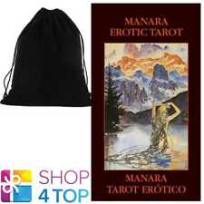 MANARA EROTIC MINI TAROT CARDS ESOTERIC TELLING LO SCARABEO WITH VELVET BAG NEW