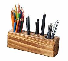 Wood Desk Organizer Wood Pencil Holder Pen Holder For Desk Desk Rustic Wood