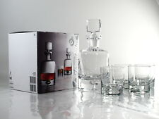 Time Tree Handmade Turkish Whisky Decanter with 4 Pasabahce Glass Set