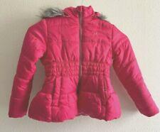 Calvin Klein Girls Down Puff Hot Pink Jacket Coat Large 6 Removable Hood