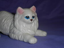 VINTAGE 1960'S JAPAN WALL CLIMBER CLIMBING CERAMIC WHITE PERSIAN CAT ADORABLE!